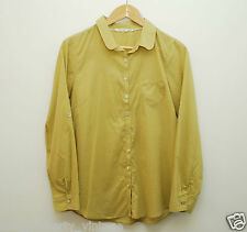 White Stuff shirt size 10 yellow spots heart shaped pocket long sleeves blouse