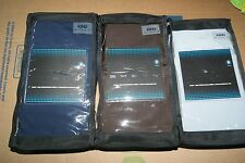 SHEEX AIRE PERFORMANCE 2 KING PILLOWCASES - NAVY SKY BLUE BROWN - NWT