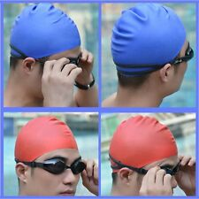 Flexible Silicone Swimming Cap Bathing Hat Unisex Adult Elasticity Waterproof