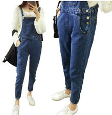 Womens Denim Jeans Jumpsuits Strap Rompers Playsuit Pants Overalls Trousers