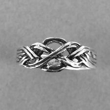 Sterling Silver CELTIC KNOT Ring-Knot Band Ring-Oxidized Silver Ring