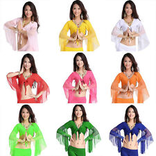 Hot  Belly Dance Costume Choli Flared Top Blouse 12 Colors