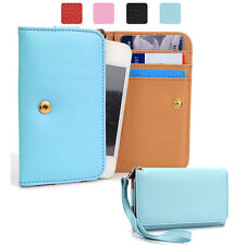 Small Simple Protective Wallet Case Clutch Cover for Smart-Phones ESAMWL-5