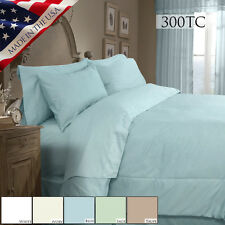 Veratex Supreme Sateen 300tc Egypt Cotton 4pc Comforter Twin Full Queen King Cal
