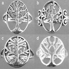 Tree of Life Silver Ring- Tree of Life Ring-925 Sterling Silver Ring-Oxidized