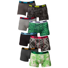 PUMA Mens Luxury Patterned Soft Cotton Boxer Shorts - Pack of 2