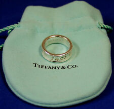 Tiffany & Co. Sterling Silver 1837 Ring Size 5.75 with Tiffany pouch