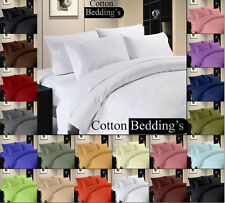 New 1000 TC 100%Egyptian Cotton 12 Color UK Double Size Hotel Bedding's in Solid