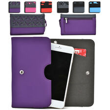 Womens Protective Wallet Case Cover for Smart Cell Phones by KroO ESDC-5 MD