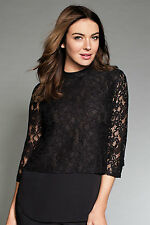 NEW EziBuy Grace Hill Lace Overlay Top