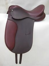 "Beautiful black & Brown Dressage Leather Saddle sizes 16"", 17"" & 17.5"""