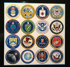 "AMERICAN INTELLIGENCE COMMUNITY LOGOS: MAGNETIC SIGNS 100mm x 100mm (4"" X 4"")"