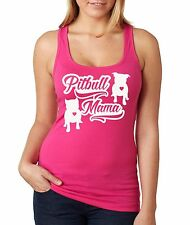 Pitbull Mama racerback tank top pitbull shirt bully shirt in sm, Md, Lg, Xl, 2xl