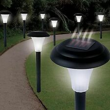 Cordless Bright Solar Powered Outdoor Garden Pathway Accent Led Lights 8 Set NEW