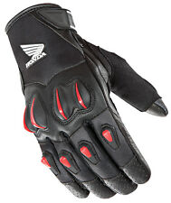 Joe Rocket Mens Black/Red Honda Cyntek Leather/Textile Motorcycle Gloves