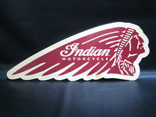 NEW GENUINE AMI INDIAN MOTORCYCLE RED HEADDRESS BIRCH WOOD SIGN GARAGE MAN CAVE