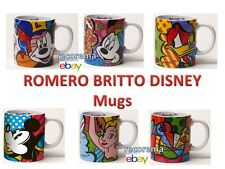 ROMERO BRITTO DISNEY MUGS EARTENWARE: MICKEY, MINNIE, TINKER BELL ** NEW **