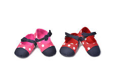 Baby Girl Bowkont Polka First shoes soft Cloth sole crib shoes Size 0-18 month