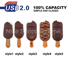 64GB cartoon Cute Ice cream model USB 2.0 Memory Stick Flash pen Drive U Disk