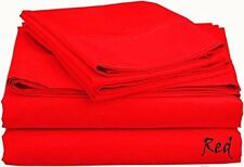 Scala Bedding 800-TC Red Solid Soft Designer Duvet Cover & Set 100% Cotton