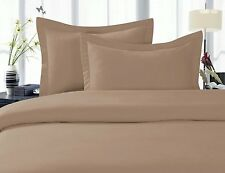 Scala Bedding 800-TC Taupe Solid Soft Designer Duvet Cover & Set 100% Cotton