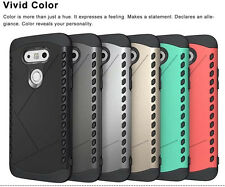 Dual Layer Hybrid Rugged Impact Shockproof Hard Back Case Cover for LG G5 U.S.A