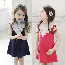 Baby Kids Girls Princess Party Dress Toddler Summer Floral Sleeveless Dresses