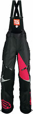 Arctiva Womens Black/Magenta Pink Comp Insulated Snowmobile Bibs/Pants