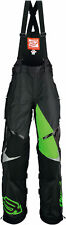 Arctiva Mens Black/Green Comp Insulated Snowmobile Bibs/Pants