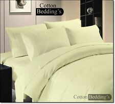 British Choice Bedding 1000 800 TC 100%Egyptian Cotton UK Size Hotel Ivory Solid