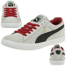 Puma Clyde Script Suede Men's Sneakers Shoes Leather gray 351907 17