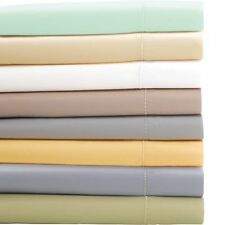 "Scala Brand 1000TC 1PC Soft Fitted Sheet 100% Cotton Solid 22"" Extra Deep Pocket"