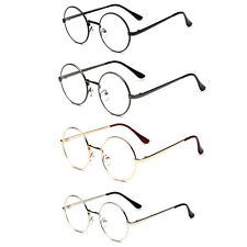 Lady Vintage Retro Round Circle Metal Frame Eyeglasses Clear Lens Eye Glasses