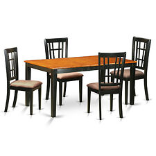 5 Pc dining table set-Table with Leaf and 4 dining room chairs
