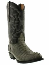 mens real gray alligator crocodile tail exotic leather western cowboy boots J