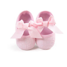 Baby Toddler Girl Princess Bowknot Kid Newborn Prewalker Antiskid Crib Shoes Hot