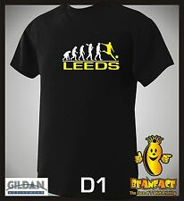 LEEDS  evolution sports football funny MENS T SHIRT small to 5XL D1