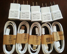 Original OEM USB Data Cable  Home Wall Charger For Samsung Galaxy S4 S3 NOTE 2