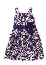 Gymboree NWT Plum Party Floral White Purple Girls Summer Dress 5 6 7 8 10 12