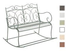 Traditional Style Rocking Bench GESINE Love 2-Seater Seat Garden Patio Aged NEW