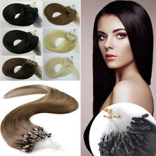 18''-22'' Remy Easy Loop Micro Ring Beads Tipped Human Hair Extensions 1g/s 100s