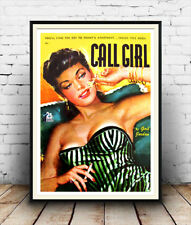 Call Girl. : Reproduction Pulp book cover, poster, Wall art.