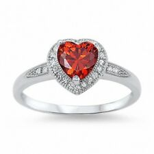 Halo Heart Shape Engagement Ring 925 Sterling Silver 1.20ct Russian CZ