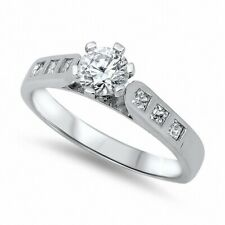 Solitaire Dazzling Wedding Engagement Ring 925 Sterling Silver 1.20Ct Russian CZ