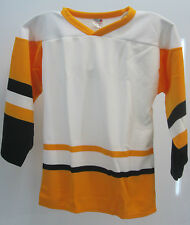 Ice Hockey Training Jerseys White/Yellow/Blk Sizes S & XS