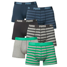 PUMA Mens Luxury Stripe Soft Cotton Boxer Shorts - Pack of 2