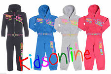 Kids Tracksuit DLX NYC Designer Hooded Hoody Jacket Tracksuit Joggers Bottoms