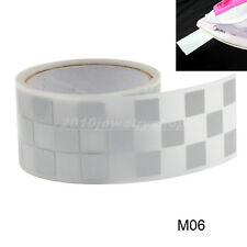 """Safety Silver Reflective Tape Fabric Iron On Material Heat Transfer 2"""" M06"""