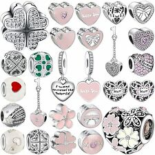 Pop New Fashion Diy Bead Sterling 925 Silver Charms Fit Genuine Bracelets Chain