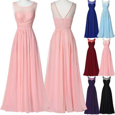 Long Chiffon Evening Pageant Party Cocktail Dresses Bridesmaid Formal Prom Gown